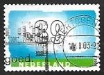 Stamps Netherlands -  Nubes y numeros