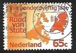 Sellos de Europa - Holanda -  Mapa de Holanda
