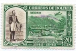 Stamps of the world : Bolivia :  Conmemoracion del centenario de la creacion del departamento del Beni
