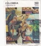 sello : America : Colombia : UPAEP- MITO Y LEYENDA