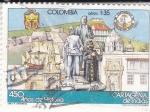 sello : America : Colombia : 450 AÑOS DE HISTORIA CARTAGENA DE INDIAS