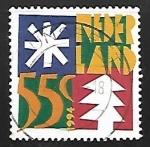 Sellos de Europa - Holanda -  navidad arboles y estrellas
