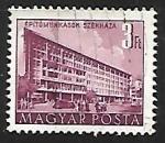Sellos de Europa - Hungría -  Edificio del plan quinquenal de Budapest
