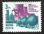 Sellos de Europa - Hungría -  25 aniversario de la cooperacion tecnologica Rusia-Hungria