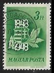 Stamps : Europe : Hungary :  Centenario del Escudo de armas de Hungría