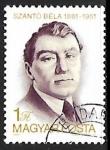 Sellos de Europa - Hungría -  Béla Szántó