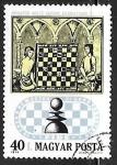 Sellos del Mundo : Europa : Hungría :  juego de ajedrez en el siglo 17