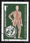 Sellos de Europa - Hungría -  25 años de la Organización Mundial de la Salud para los Derechos Humanos