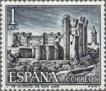 Sellos de Europa - España -  ESPAÑA 1970 1977 Sello Nuevo Castillos de España Valencia de Don Juan Leon