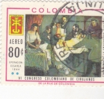 Stamps : America : Colombia :  VI CONGRESO COLOMBIANO DE CIRUJANOS