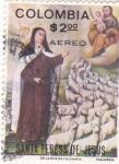 Stamps : America : Colombia :  SANTA TERESA DE JESUS