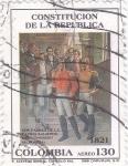 Sellos de America - Colombia -  CONSTITUCIÓN DE LA REPUBLICA