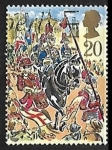 Stamps United Kingdom -  Escort of Blues and Royals