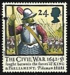 Sellos de Europa - Reino Unido -  350th Anniv of the Civil War