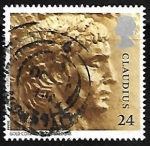 Stamps United Kingdom -  Emperor Claudius (from gold coin)