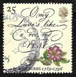 Stamps United Kingdom -  Death Bicentenary of Robert Burns (Scottish Poet)