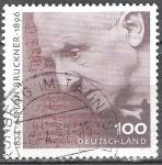 Stamps Europe - Germany -  Centenario de la muerte de Anton Bruckner, compositor / organista.
