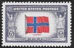Stamps America - United States -  467 - Bandera de Noruega