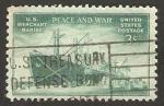 Stamps America - United States -  491 - En recuerdo a La Marina Mercante, carguero Liberty Ship