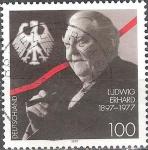 Sellos de Europa - Alemania -  Cent de nacimiento de Ludwig Erhard, Ministro Federal de Economía (1949-1963).