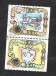 Stamps Italy -  2032 y 2035 - Historia Postal