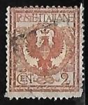 Sellos de Europa - Italia -  Eagle and ornaments