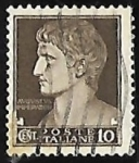Sellos de Europa - Italia -  Effigy of Augustus