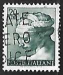 Sellos de Europa - Italia -  Works of Michelangelo