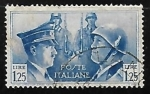Stamps Italy -  Portraits of Mussolini and Hitler
