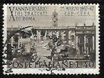 Stamps : Europe : Italy :  Tenth anniversary of the Treaties of Rome