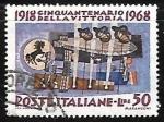 Stamps : Europe : Italy :  50º aniversario de la victoria en la seguda guerra mundial