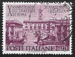 Stamps Italy -  Tenth anniversary of the Treaties of Rome