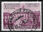 Sellos de Europa - Italia -  Tenth anniversary of the Treaties of Rome
