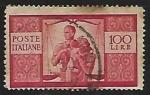 Stamps Italy -  Pareja con niño y balanza de la justicia
