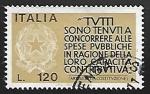 Sellos de Europa - Italia -  Encouragement to Taxpayers