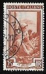 Sellos de Europa - Italia -  Sicilia - recolectora de nranjas