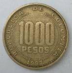 monedas de America - Colombia -  1997 - 1000 pesos