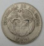 monedas de America - Colombia -  1953 plata 20 centavos