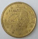 monedas de Europa - España -  1999 - 50 cent euro