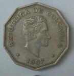 monedas de America - Colombia -  1967 - 1 peso