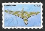 de Africa - Ghana -  1462 - 75 Anivº de la Fuerzas Aéreas