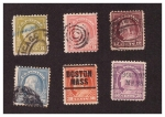 Stamps United States -  Benjamin Franklin