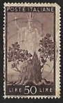 Stamps Italy -  Tree in bloom and Italy