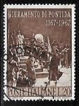 Sellos de Europa - Italia -  8°anniversary of the oath of Pontida