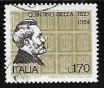 Sellos de Europa - Italia -  Quintino Sella