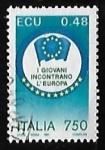 Sellos de Europa - Italia -  Portal Europeo de la Juventud