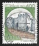 Sellos de Europa - Italia -  Castillo - Prato