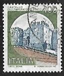 Stamps Italy -  Castillo - Prato