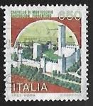 Sellos de Europa - Italia -  Castillo - Montecchio