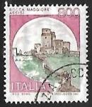 Sellos del Mundo : Europa : Italia : Castillo - Assisi